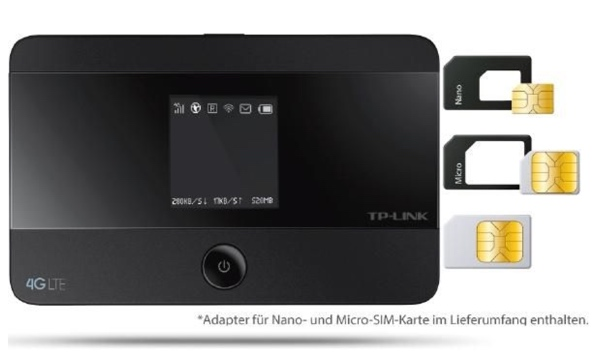 tp link m7350 mobiler lte wlan hotspot router nur 90. Black Bedroom Furniture Sets. Home Design Ideas